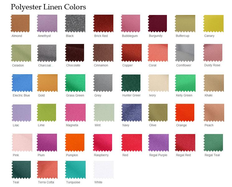 Polyester Linen Colors Inc Color